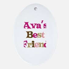 Ava 's Best Friend Oval Ornament