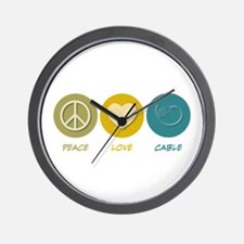 Peace Love Cable Wall Clock