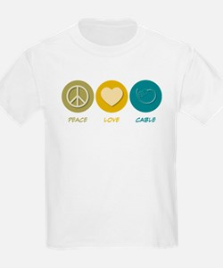 Peace Love Cable T-Shirt