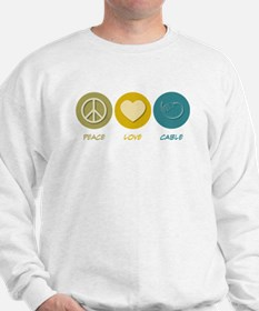 Peace Love Cable Sweatshirt