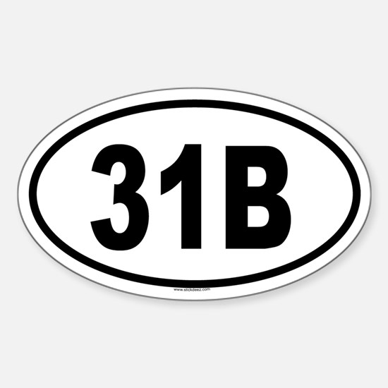 31B Oval Decal