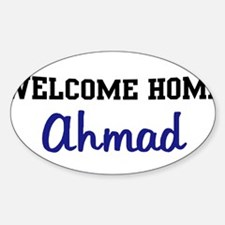 Welcome Home Ahmad Oval Decal
