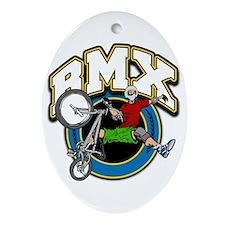 BMX Logo Oval Ornament