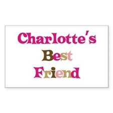 Charlotte 's Best Friend Rectangle Decal