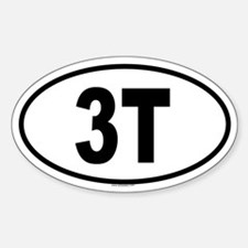 3T Oval Decal