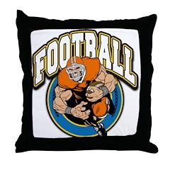 Football Logo Throw Pillow