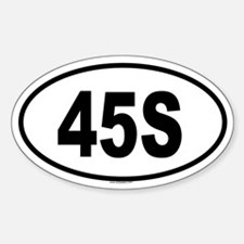 45S Oval Decal