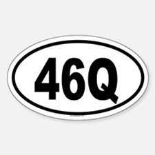 46Q Oval Decal