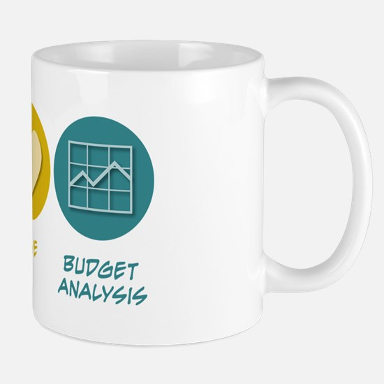 Peace Love Budget Analysis Mug