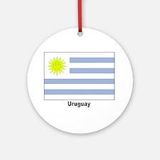 Uruguay Flag Keepsake (Round)