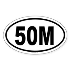 50M Oval Decal