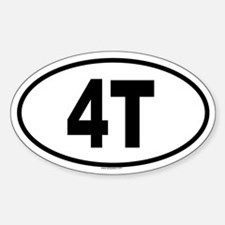 4T Oval Decal