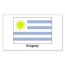Uruguay Flag Rectangle Decal