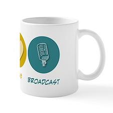 Peace Love Broadcast Mug