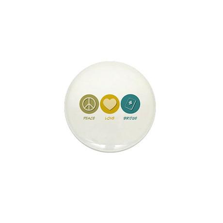 Peace Love Bridge Mini Button (100 pack)