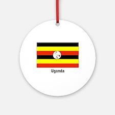Uganda Flag Keepsake (Round)