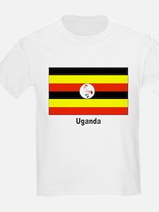 Uganda Flag (Front) Kids T-Shirt