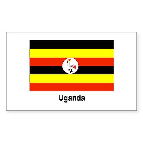 Uganda Flag Rectangle Sticker