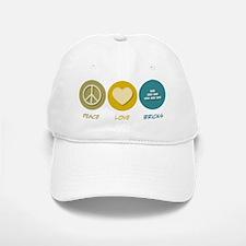 Peace Love Bricks Baseball Baseball Cap