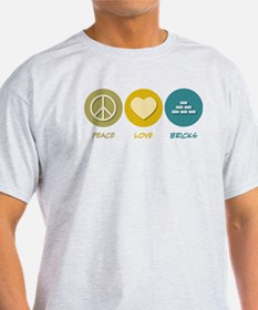 Peace Love Bricks T-Shirt