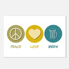 Peace Love Brew Postcards (Package of 8)