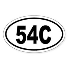 54C Oval Decal