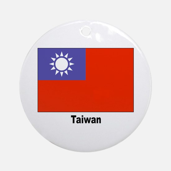 Taiwan Flag Keepsake (Round)