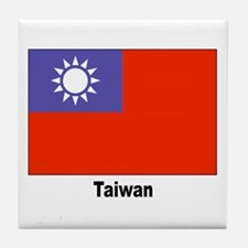 Taiwan Flag Tile Coaster