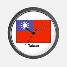 Taiwan Flag Wall Clock
