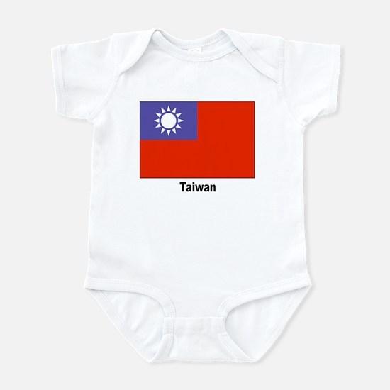 Taiwan Flag Infant Creeper