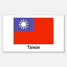 Taiwan Flag Rectangle Decal