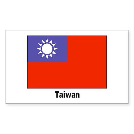 Taiwan Flag Rectangle Sticker