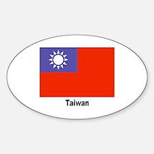 Taiwan Flag Oval Decal
