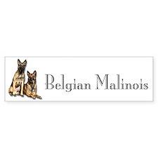 Belgian Malinois Pair Bumper Bumper Sticker