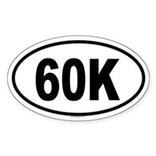60K Oval Decal