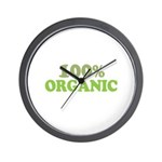 100 percent organic Wall Clock
