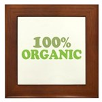 100 percent organic Framed Tile