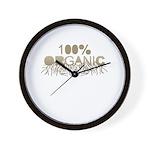 100% Organic Wall Clock