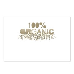 100% Organic Postcards (Package of 8)