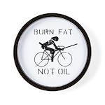Burn fat not oil Wall Clock