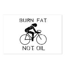 Burn fat not oil Postcards (Package of 8)