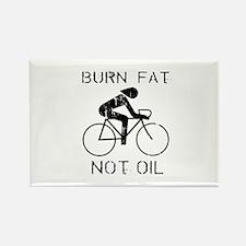 Burn fat not oil Rectangle Magnet