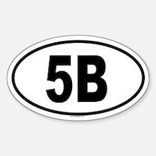 5B Oval Decal