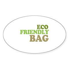 Eco Friendly Bag Oval Sticker