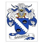 Gardiola Family Crest Small Poster
