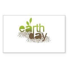 Earth Day T-shirts Rectangle Sticker 50 pk)