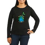 Earth Day T-shirts Women's Long Sleeve Dark T-Shir