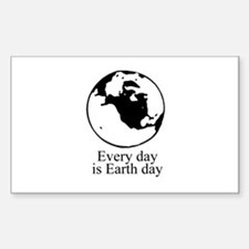 Every day is Earth Day Rectangle Sticker 10 pk)