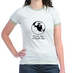 Every day is Earth Day Jr. Ringer T-Shirt