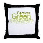 Forever Green Throw Pillow